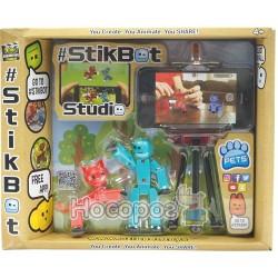 Ігровий набір для анімаційної творчості STIKBOT S2 PETS - СТУДІЯ (2 екскл. фігурки, штатив, у асорт.