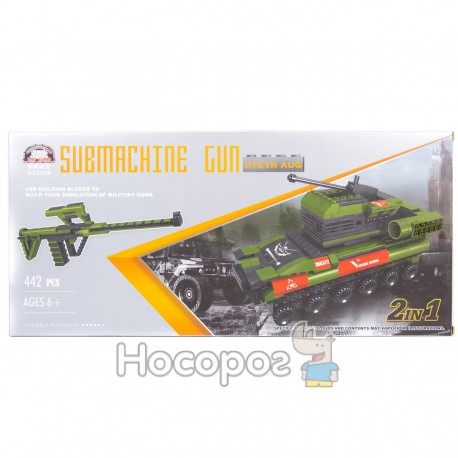 Конструктор В 1138206 Военный автомат / Танк
