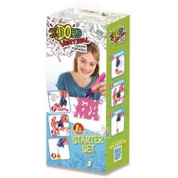 Набор для детского творчества IDO3D с 3D-маркером - АЛФАВИТ