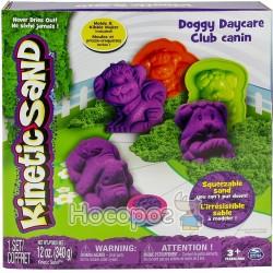 Набор песка для детского творчества Spin Master KINETIC SAND DOGGY фиолетовый, зеленый
