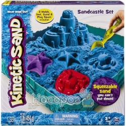 Набор песка для детского творчества Spin Master KINETIC SAND Замок из песка голубой