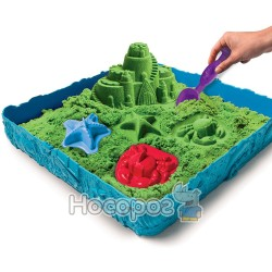 Набір піску для дитячої творчості Spin Master KINETIC SAND Замок з піску зелений