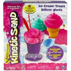 Песок для детского творчества Spin Master KINETIC SAND ICE CREAM розовый