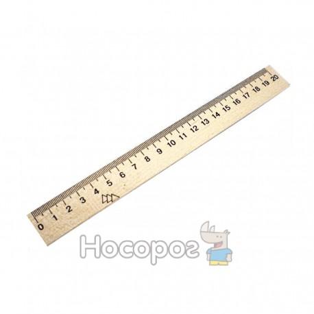 Линейка деревяная 20 см (7072)