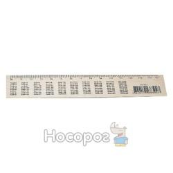 Линейка деревянная Таблица умножения (шелкография) 15 см