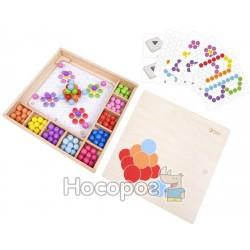 Мозайка-конструктор волшебные шарики в деревянной коробке