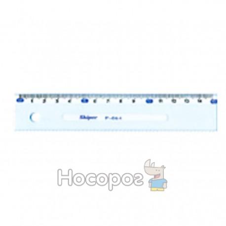 Линейка 15 см SK-P064 пластик. прозрачная