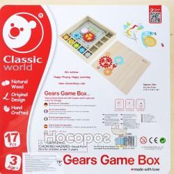 Конструктор Classic World Веселые шестеренки в деревяной коробке 8009