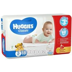 Подгузник для детей Huggies Classik 3 (4-9кг) 58шт
