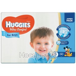 Подгузники Huggies Ultra Comfort 5 Jumbo для мальчиков 42 шт (5029053565408)