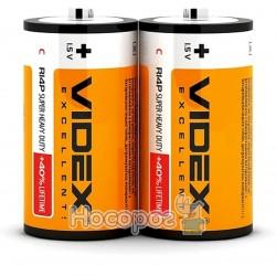 Батарейка солевая Videx R14/C 2шт